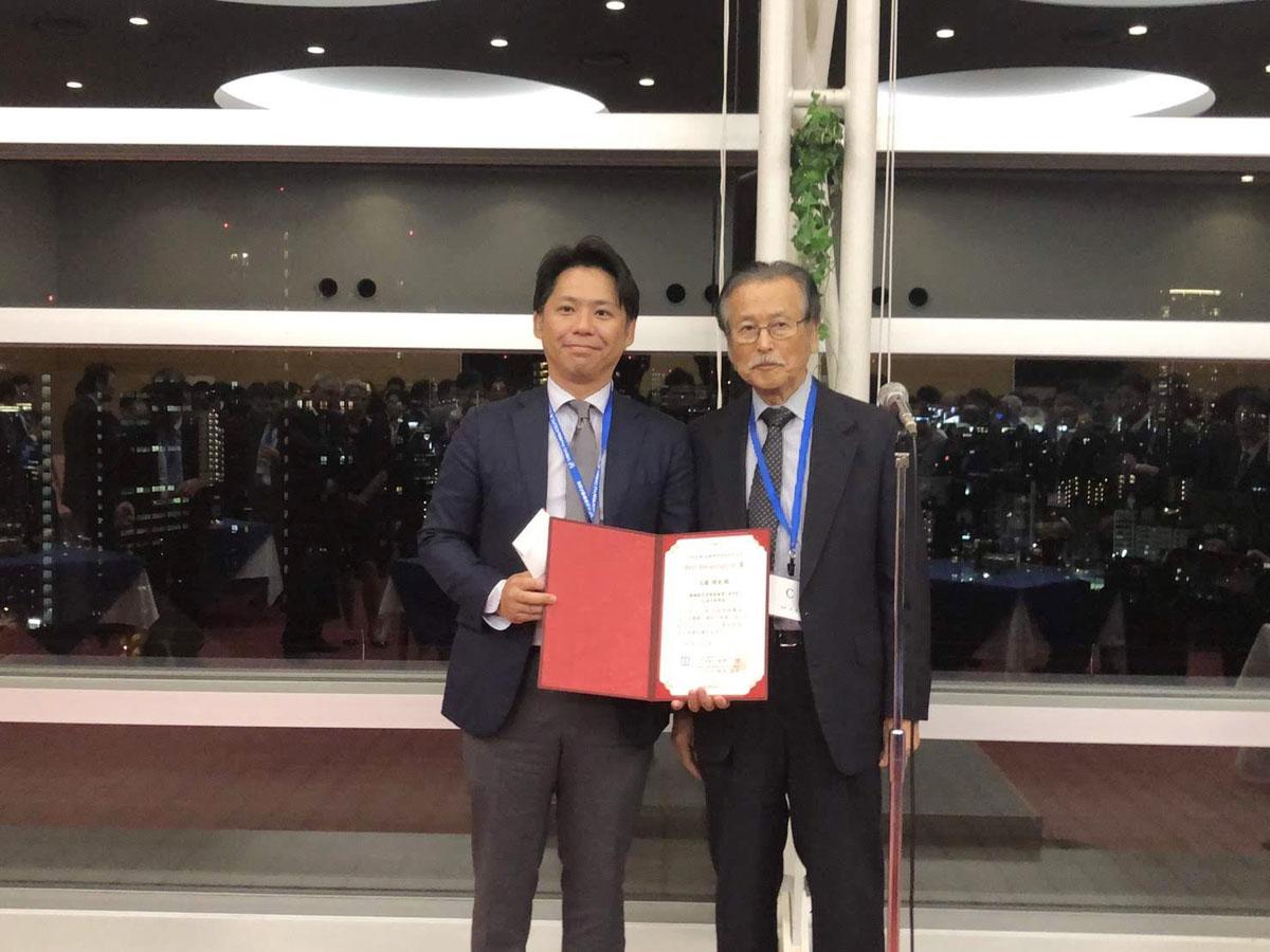 工藤 理史 先生が、第26回日本脊椎・脊髄神経手術手技会(2019年9月6日~7日)でBest Presentation Awardを受賞されました